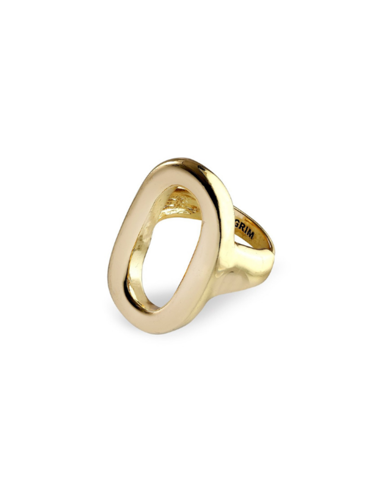 PILGRIM Pilgrim Goddess Ran Oval Adjustable RIng in Gold or Silver