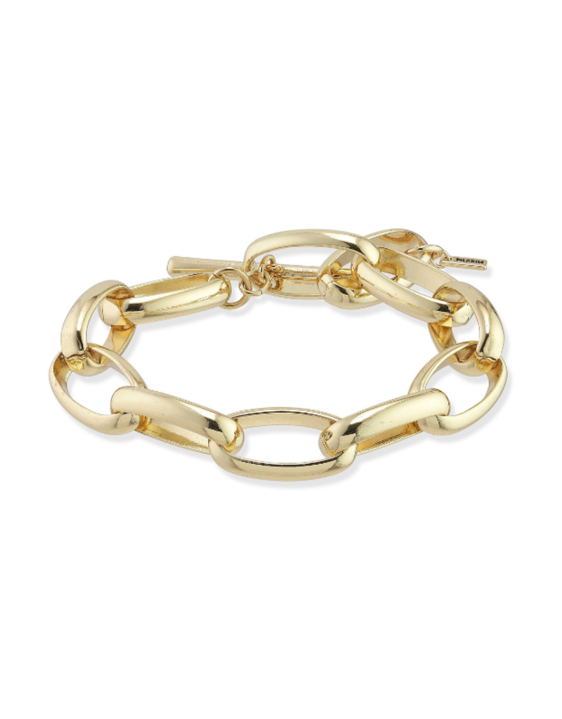 PILGRIM Pilgrim Goddess Ran Chain Link Bracelet with Toggle Clasp in Gold or Silver