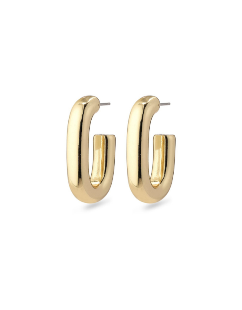 PILGRIM Pilgrim Goddess Ran Open Hoop Earring in Gold or Silver