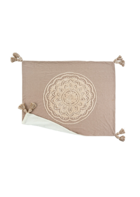 Chambray Mandala Throw in Sand