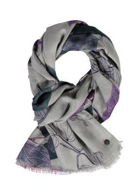 FRAAS Study in Botany Scarf Lavender
