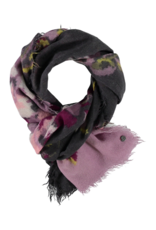 FRAAS Optical Floral Wool Scarf Pale Rose