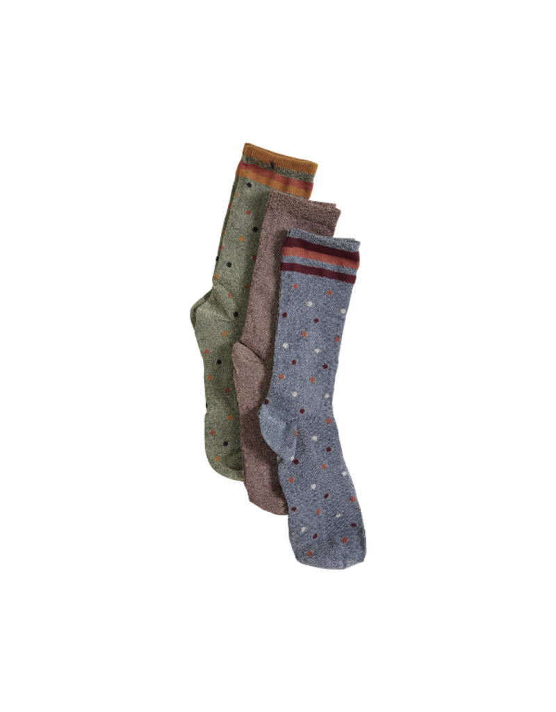 ICHI ICHI 3 pack Socks In A Box  in Dots