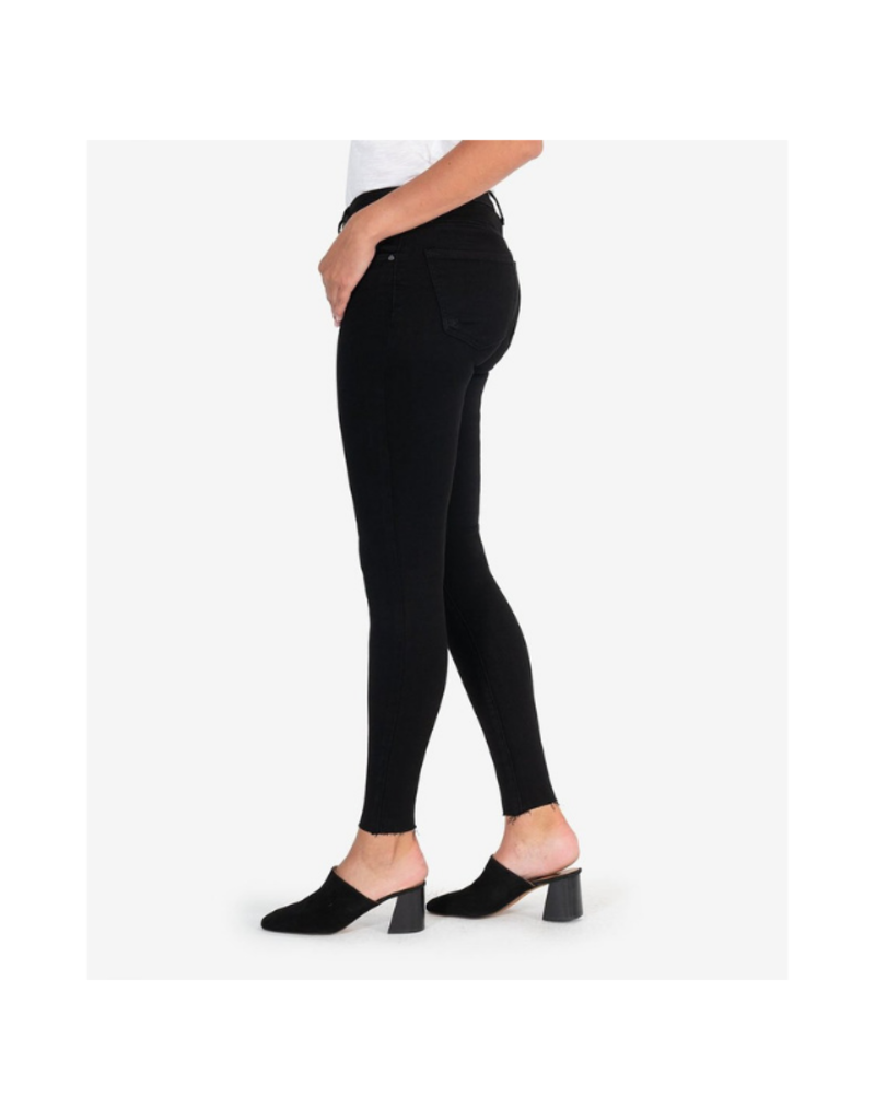 Kut from the Kloth KUT Donna High Rise Ankle Skinny in Black