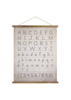 Canvas and Scroll Alphabet Wall Decor