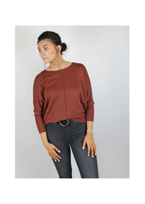 b.young b.young Pimba Bat Sweater in Dark Copper