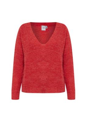 ICHI ICHI Marat Sweater Pompeian Red