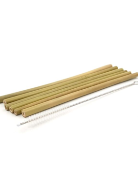 david shaw Organic Bamboo Straws (7pc Set)