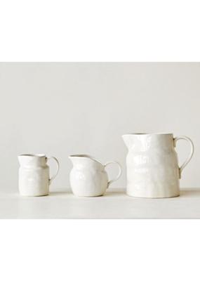 Vintage Stoneware Pitcher White