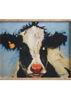 Cow Wall Art Framed Canvas