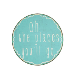 """""""Oh The Places You'll Go"""" Metal Wall Decor"""