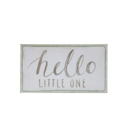 """Hello Little One"" Wood Wall Decor 18""x10"""