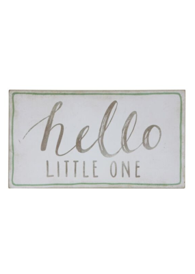 """Hello Little One"" Wood Wall Decor 18""x10"""