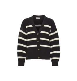 Soaked in Luxury SOAKED Cumin Cardigan Black and White