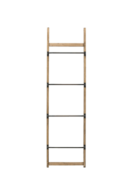 "Metal/Wood Wall Ladder 71""LX20""W"