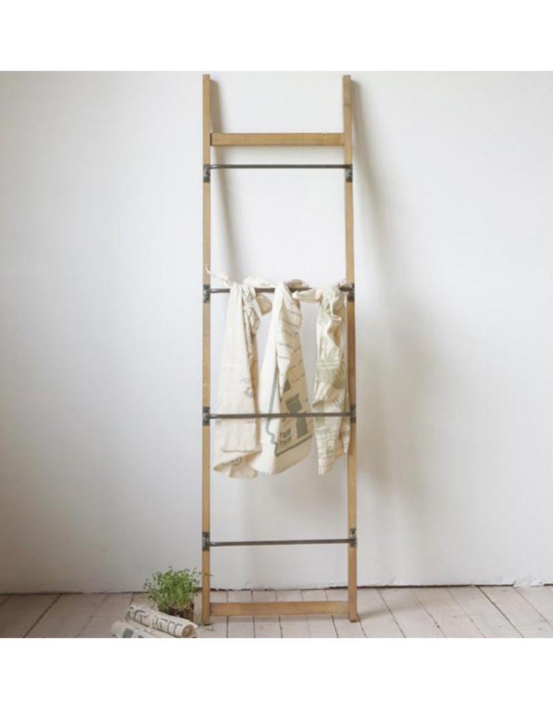 """Metal/Wood Wall Ladder 71""""LX20""""W"""