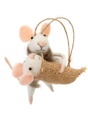 Mommy and Me Mouse Ornament
