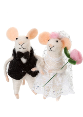Newlywed Mice Ornament S/2