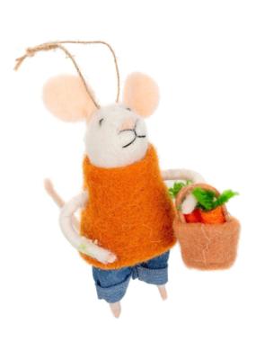 Mouse Ornament Farmer's Market Ornament Finn