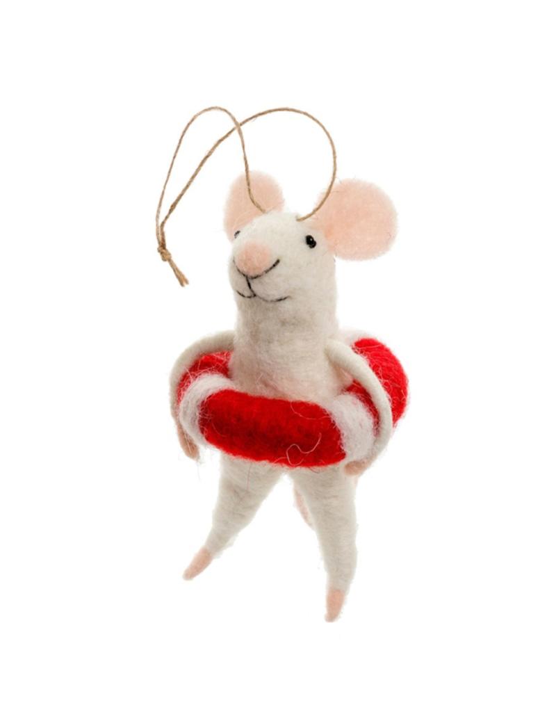 Lifeguard Lily Mouse Ornament