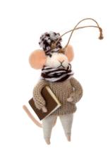 Mouse Ornament Studious Stuart