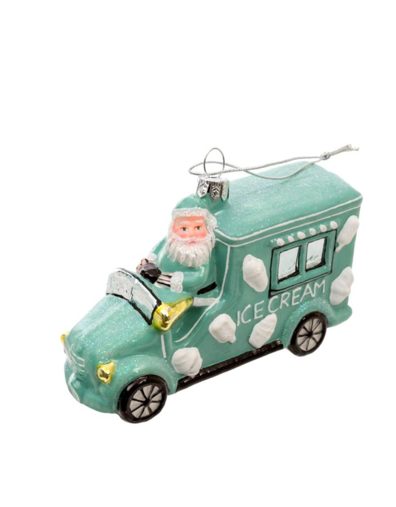 Santa's Icecream Truck Ornament