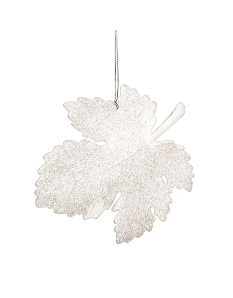 Acrylic White Leaf Ornament