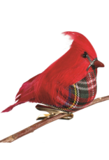 Red Feather Bird Ornament