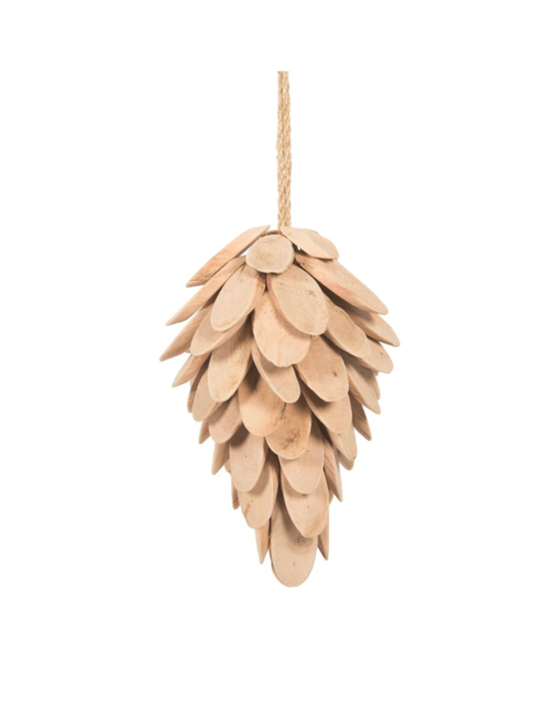 Wood Pinecone Ornament Natural