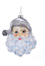 Santa Face Ornament with Glitter