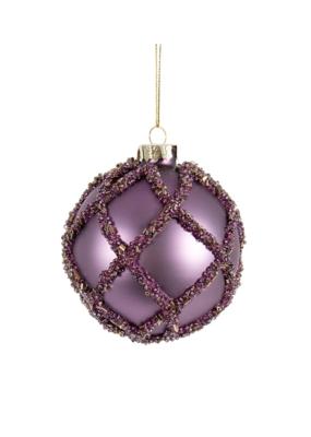 Purple Ornament with Glitter