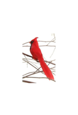 Cardinal on Clip Red 6inch