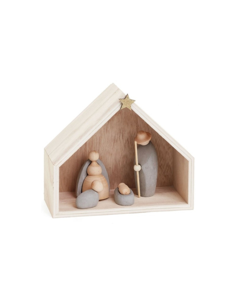 Wooden Natural Nativity Set