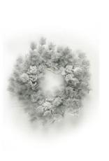 Wreath with Snow 24""