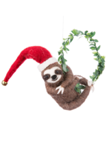 Sloth with Wreath Ornament