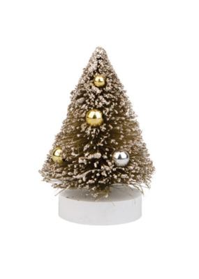 SM Sisal Tree Green with Gold Glitter