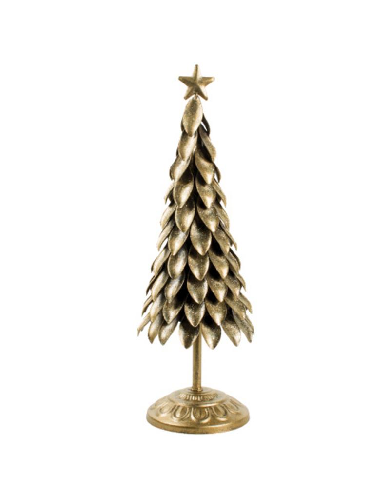 Antique Gold Metal Petal Tree