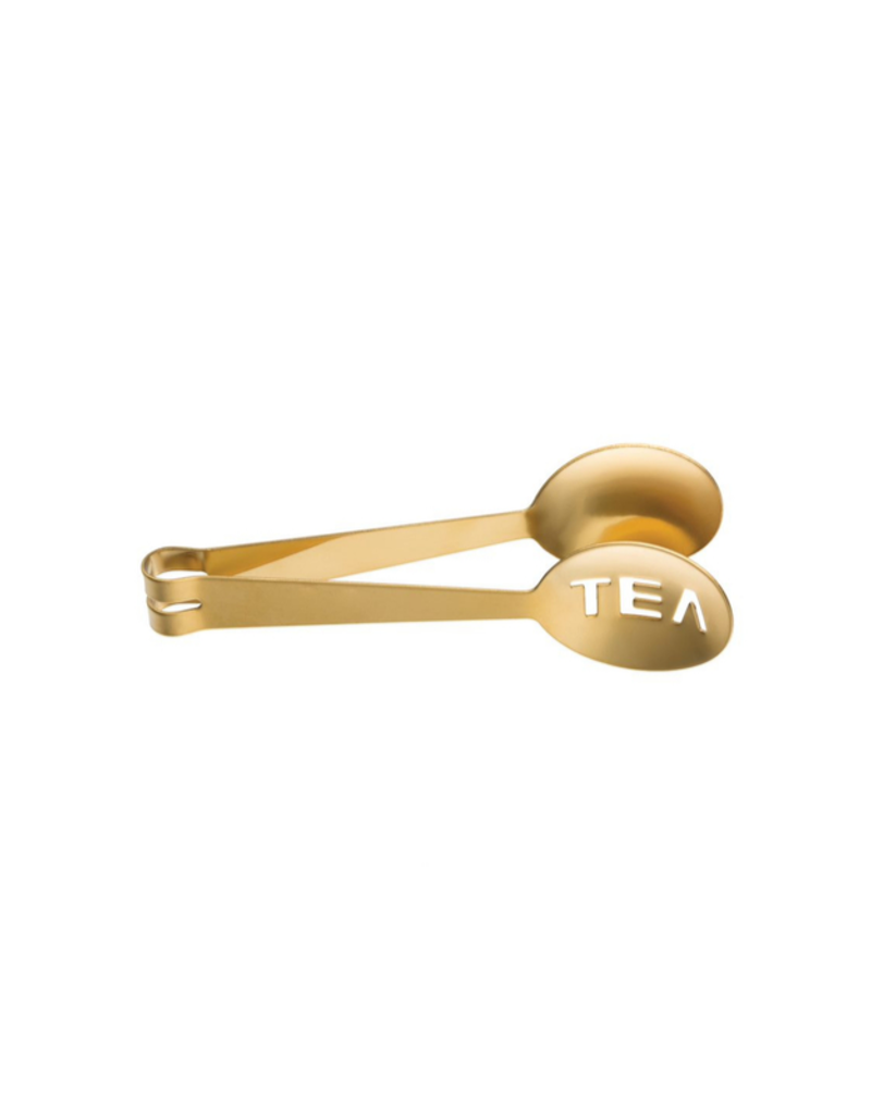 Tea Tongs with Gold Electroplating