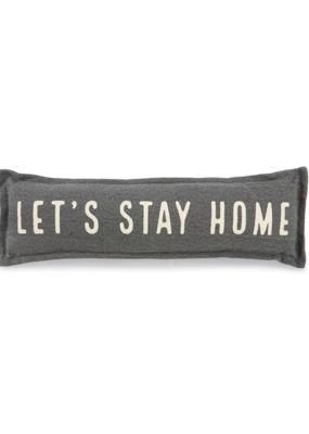 Let's Stay Home Long Pillow