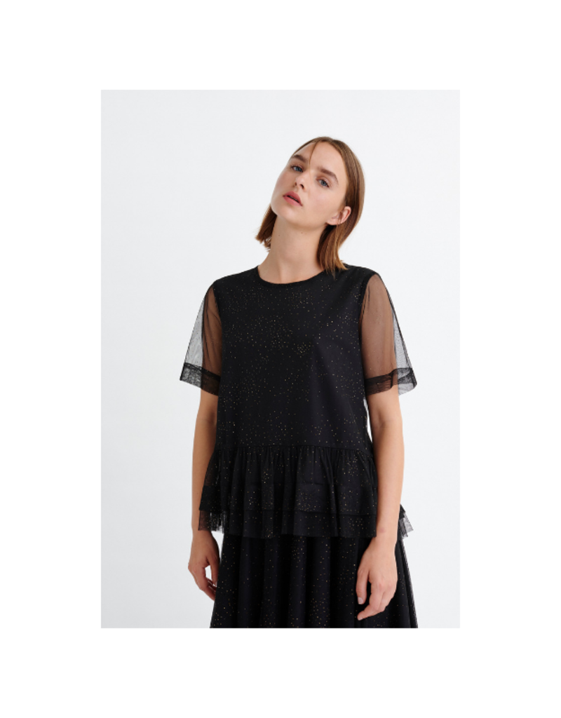 InWear InWear Charlotte Top in Black with Gold Dots