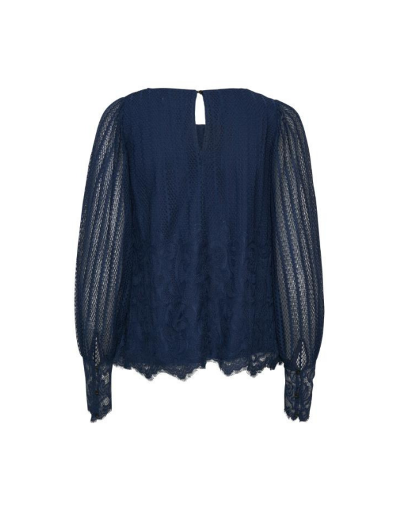 Part Two PART TWO Nalene Lace Blouse in Blue