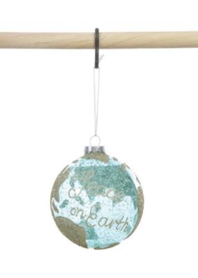"""Globe Ornament """"Peace On Earth"""""""
