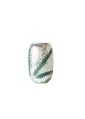 "Mercury Glass Votive Holder Silver/Mint 6""H"