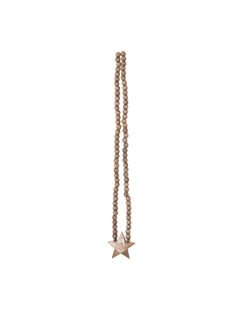 Mango Wood Rosary Beads With Star