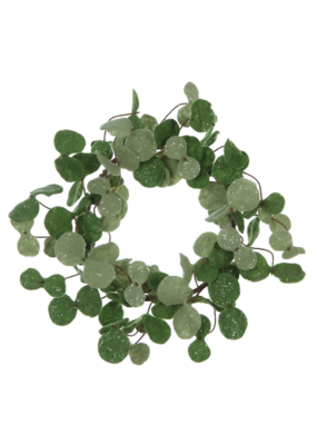 Green Felt Eucalyptus Wreath