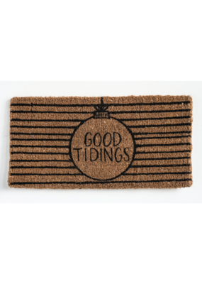 """Good Tidings"" Coir Doormat"