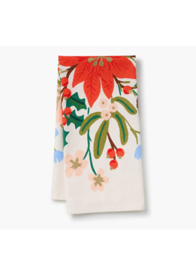 Rifle Paper Co. Holiday Bouquet Tea Towel by Rifle Paper Co.