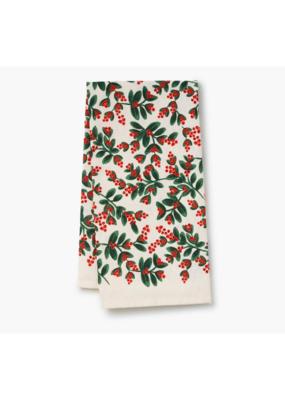 Rifle Paper Co. Mistletoe Tea Towel
