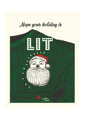 The Good Days Print Co. Lit Holiday Card by The Good Days Print Co.