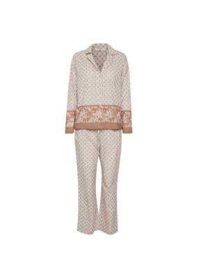 Cream Cherie Pyjamas in Light Beige